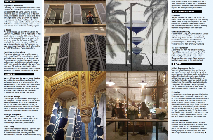 Goldie Magazine - 48 Hours in Palma de Mallorca