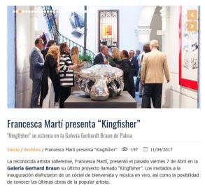 "Francesca Martí presenta ""Kingfisher"""