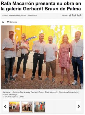Rafa Macarrón presenta su obra en la galería Gerhardt Braun de Palma