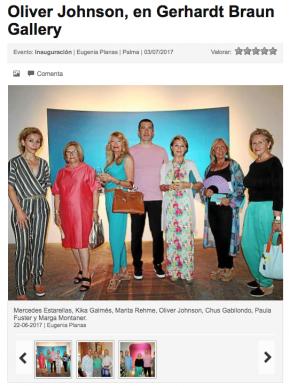 Oliver Johnson, en Gerhardt Braun Gallery