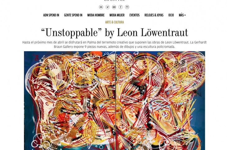 """Unstoppable"" by Leon Löwentraut"